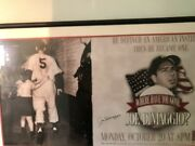Joe Dimaggio Hbo Where Have You Gone Joe Dimaggio Signed Nyc Phone Booth Poster