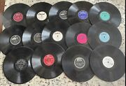 Lot Of 14 - 10 - 78 Rpm Shellac Records Rare Oldies Radio Demonstrations 1950's
