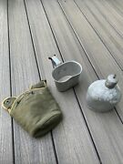 World War 2 Ww2 Canteen Cup And Pouch 1945