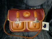 Dooney And Bourke Vintage Large Double Pocket Outback - R36- In Rouge
