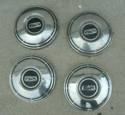 Ford Dog Dish Hubcaps 60and039s-70and039s Mustang Cougar Torino Fairlane Galaxie 10 1/2