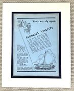 Antique Print 1930s Toy Boat Model Sailboat Yacht Vintage Toys Old Advertisement