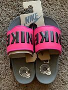 Nike Offcourt Cushioned Slides Sandals Womenand039s Shoes Fuchsia Pink Black Size 7