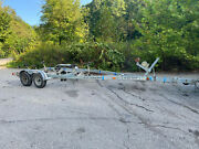 1997 Ez Loader Dual Axle Galvanized Boat Roller Trailer 21-24and039 Boat