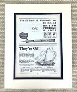 Antique Print Model Boat Sailboat Vintage Toy Building Hobby Craft 1930s Advert