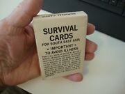 Vintage U.s. Army Survival Cards For S.e. Asia - 1968 - Unopened