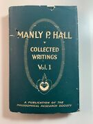 Manly P Hall Signed Collected Writings Vol 1 - First Edition 1958