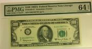 1 1963a 100 Pmg64 Epq Choice Uncirculated Federal Reserve Star Note Chicago