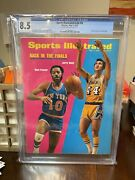 Sports Illustrated Cgc 8.5 Newsstand May 7 1973 Walt Frazier Jerry West