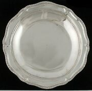 Antique 1750-1800 18th Century Hand Hammered Silver Gadroon Bowl/dish 12 3/4