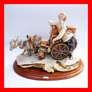 Very Very Rare G. Armani Organ Grinder With Built - In Music Box Capodimonte