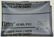 Oatey 41620 Pvc Shower Pan Liner,40 Mil, 5' X 7', New - Free Shipping