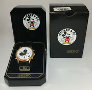 Vintage Menand039s Seiko Mickey Mouse Quartz Watch With Timer And Alarm Needs Battery