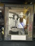 Framed Autograph Picture Stevie Ray Vaughan And Billy Gibbons With Coa