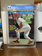 Sports Illustrated Cgc 9.0 Newsstand Aug 19 1985 Pete Rose