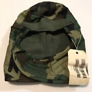 Size 7 1/2 Woodland Camouflage Pile Cap Cold Weather Insulating Helmet Liner