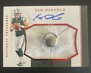 2018 National Treasures Rpasam Darnold Hats Off Rookie Auto Rc Hat Button /3 🔥