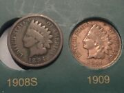 1894 And 1909 Indian Head Cent Penny Semi Key Date Coin Lot