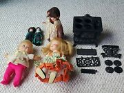 Vintage Collectible Dolls Vouge And More Crescent Iron Stove Accessory Sold As Is