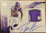2009 Sp Authentic Percy Harvin Rookie Rc Patch Auto Rpa D /999 Vikings Florida