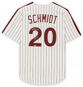 Frmd Mike Schmidt Phillies Signed White Replica Jersey And Hof 95 Insc