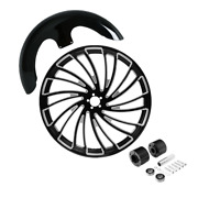 23x3.5and039and039 Front Fender Wheel Rim Dual Disc Hub Fit For Harley Road King 08-21 20