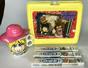 The Jim Henson Hour Lunchbox Muppet Babies Toothbrush And Miss Piggy 1988 Cup