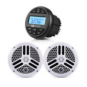 Marine Bluetooth Mp3 Stereo Radio Boat Receiver + Waterproof Ip66 6.5and039and039 Speakers