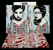 Hush Faces Hand Finished Signiert + Sticker Banksy Shepard Fairey Pejac Dface