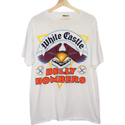 M255 Vintage Change White Castle Belly Bombers Single Stitch Shirt Made In Usa L