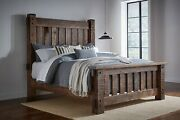 In Stock -amish Rustic Slat Bed Mortise Tenon Rough Sawn Solid Wood King
