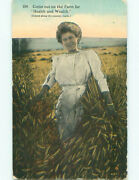 Pre-linen Woman Says Come To The Farm For Health And Wealth K7323