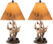 Signature Design By Ashley - Derek Antler Table Lamp - Mountain Style Shades - R