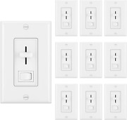 [10 Pack] Bestten Dimmer Light Switch For Dimmable Led, Halogen And Incandescent