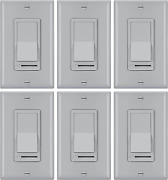 [6 Pack] Bestten Dimmer Switch 3 Way Or Single Pole For Dimmable Led Light Ha