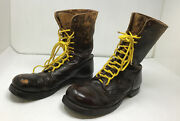 Named Corcoran Wwii Airborne Paratrooper Jump Boots Brown Leather Size 9 1/2
