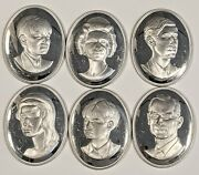1972 British Royal Family Sterling Silver Cameo Collection 8.4 Ounces Not Scrap