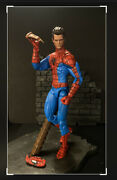 Marvel Select Spiderman W/ Custom Unmasked Head See Photos Peter Parker