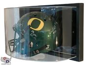 Framed Uv Protecting Curved Acrylic Wall Mounting Football Helmet Display Case