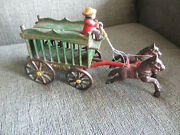 Old Vintage Antique 2 Horse Drawn Circus Animal Cage Wagon And Driver - See More