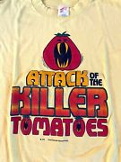 Attack Of The Killer Tomatoes Vintage T Shirt 70s 1978 Movie Promo Size Large