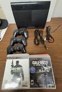 Sony Playstation 3 Ps3 Super Slim Console Controller Tested Cech-4201b 12 Games