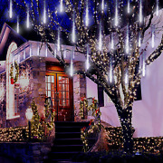 Icicle Christmas Lights Outdoor Aokudoni Upgraded 16 Inch Meteor Shower Lights