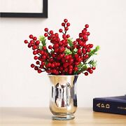 30 Pack Red Berries Artificial Christmas Red Berry Picks8.1 Inch Winter Decor