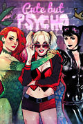 Catwoman Poison Ivy Silk Sexy Girl Anime Print Wall Home Decor - Poster 24x36
