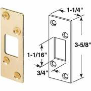 Defender Security Brass 1-1/4 In. Security Strike Plate E 2235 Pack Of 60