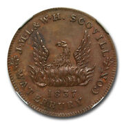 1837 J.m.l And W.h. Scovill Waterbury Token Ms-63 Ngc Bnht-105 - Sku233625