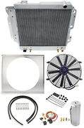 Champion Cooling Systems Bc2101k All-aluminum Radiator Fan And Shroud Kit 1987-2