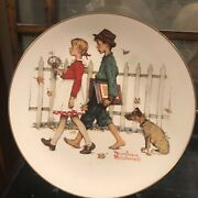 Set Of 4 Limited Edition 1972 Norman Rockwell Four Seasons Plates 11 Inch