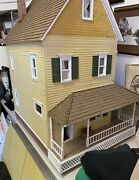 Large Vintage Doll House Handmade Full Of Furniture And Accessories